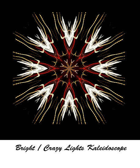"""Bright """"Crazy Lights""""Kaleidoscope T Shirt"""