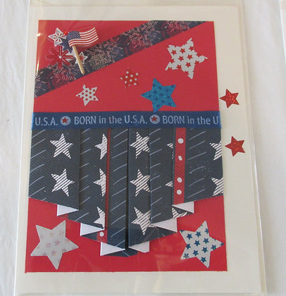 Born in the USA Card by Artisan Marilyn Parker