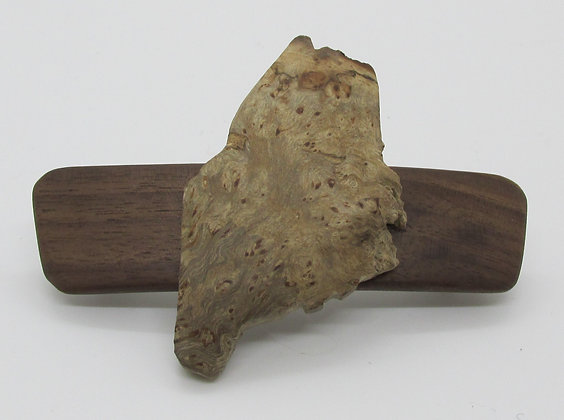 State of Maine Burl Barrette by Artisan Chris Gray