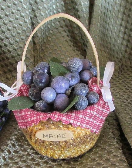 Blueberry Basket Ornament