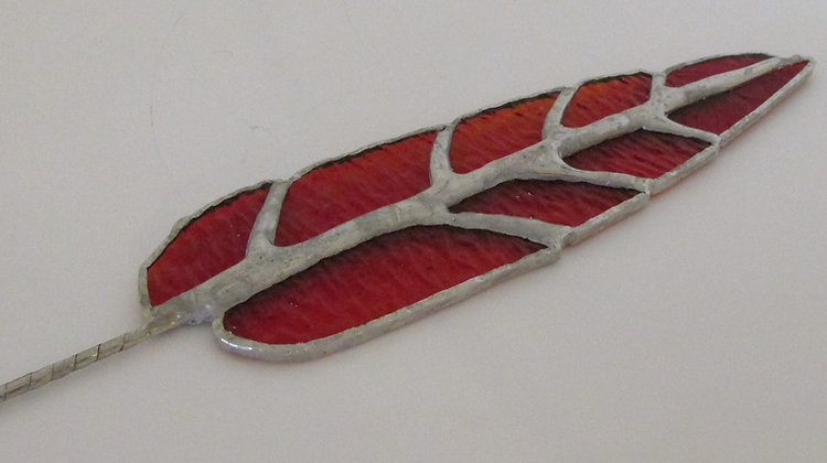 Feather Stained Glass by Artisan Ralph Parks
