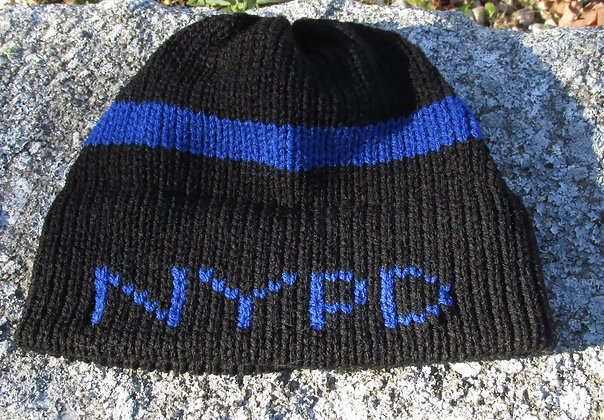 NYPD  Blue Lives Matter Handknit Hat by Artisan Keepsake NogginKnits
