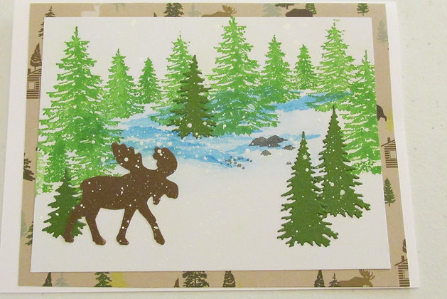 Merry Christmoose Card by Artisan Marilyn Parker