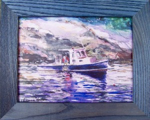 Catch of the Day, Framed Ceramic Tile by Artisan Dianne Horton