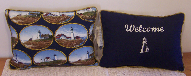 Reversible Lighthouse Pillow