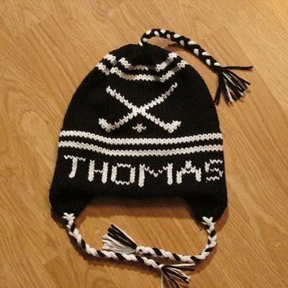 Thomas College Field Hockey Handknit Hat by Artisan Keepsake NogginKnits