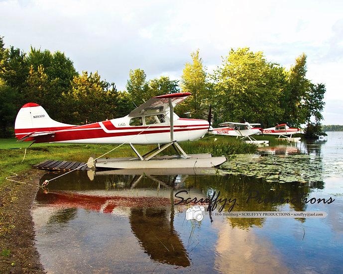 Seaplane at Sunset Pushaw Lake Photo Canvas
