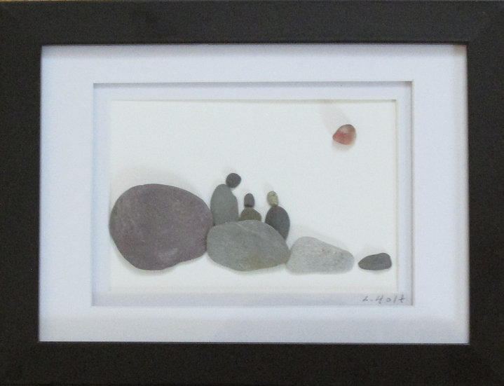 Just the Three of us, Framed Wall Hanging