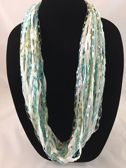 Summer Seafoam Jewel Necklace