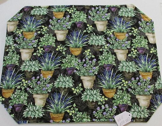 Garden Pots Placemats by Artisan Pillow World