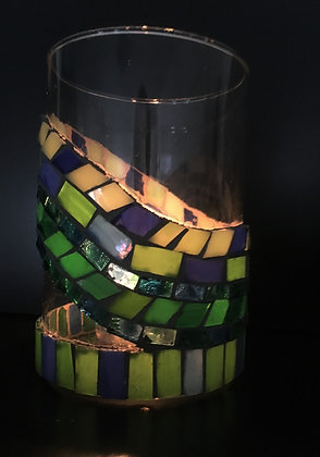 Glass Vase or Candle Holder: Maine Waters by Angela Maniak