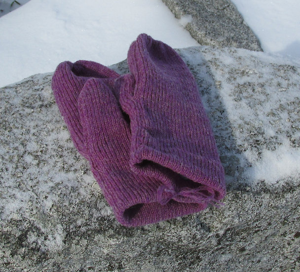 Thistle Fleece lined Wool Mittens