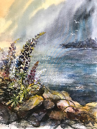 Lavender Lupine Print by Artisan Dianne Horton
