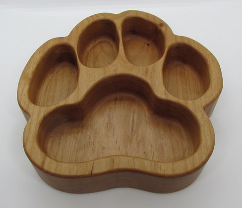 Dog PAW Wooden Snack Tray by Artisan Torie Patterson