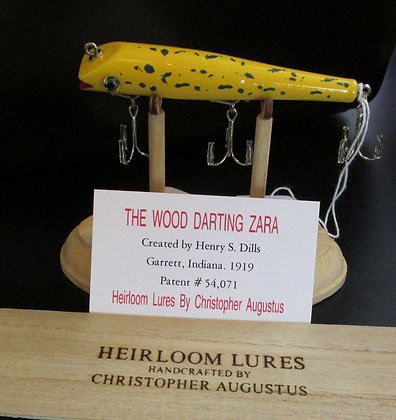 The Wood Darting Zara, Hand Crafted Fish Lure by Artisan Chris Augustus