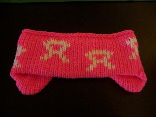 Knit Headband Dark pink acrylic
