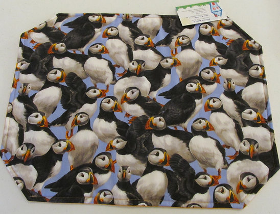 Puffin Placemats by Artisan Pillow World
