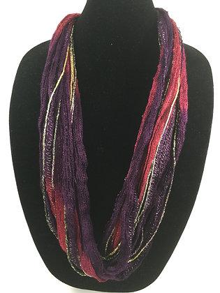 Plum Wine Plush Necklace by Artisan Jane Arey