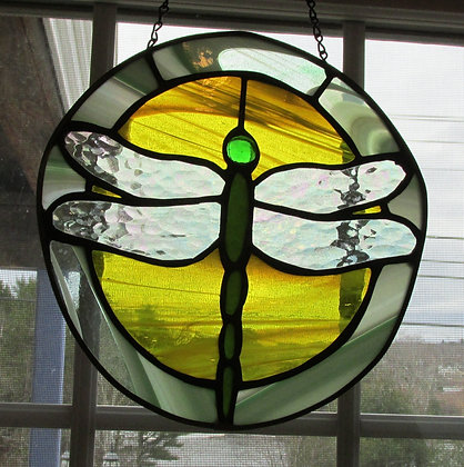 Dragonfly Stained Glass by Artisan Ralph Parks