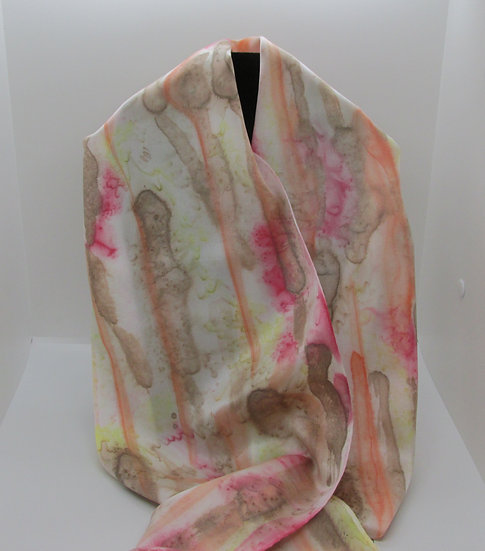 Hand Painted Silk Scarf - One of a Kind