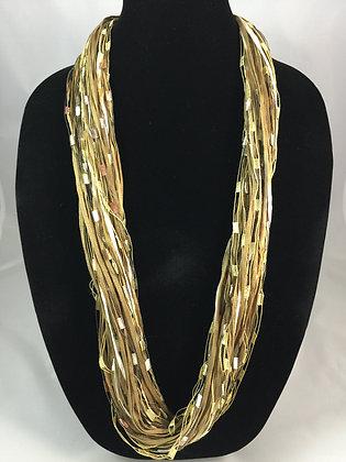 Cotton Saddle Necklace by Artisan Jane Arey