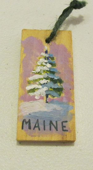 Hand painted Holiday Tree ornament