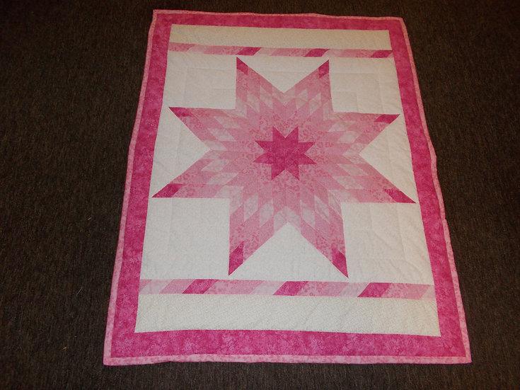 Radiant Star Quilt, 44 x 56