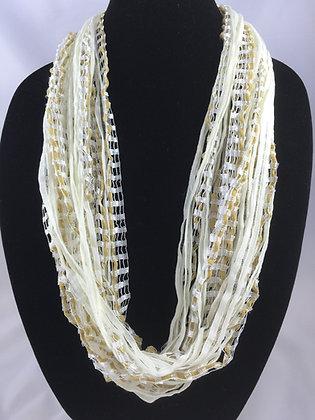 Jewel Ladder Vanilla Creame Necklace by Artisan Jane Arey