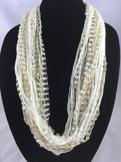 Jewel Ladder Vanilla Creame Necklace