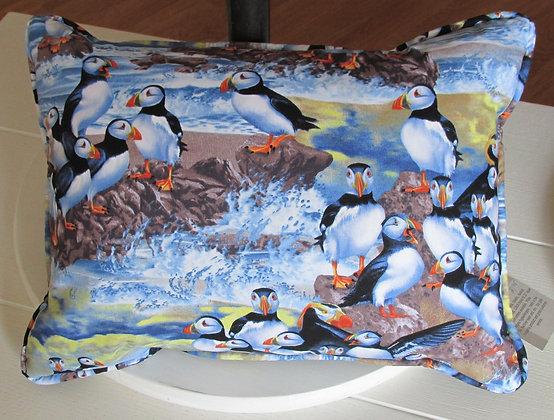 Atlantic Puffins Pillow by Artisan Pillow World