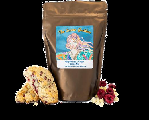 Raspberries & Cream Scone Mix by Artisan The Scone Goddess