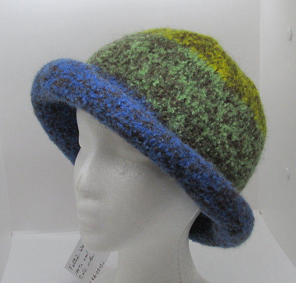 The Colors of the Sea, Felted Wool Hat