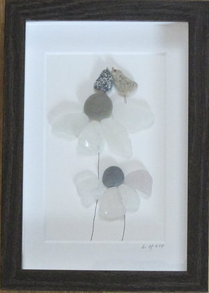 Our Happy Place, Framed Wall Hanging by Artisan Lisa Holt