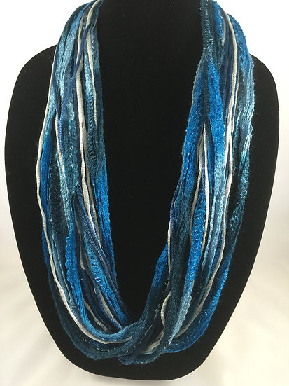 Indigo Blue Plush Necklace