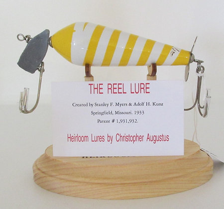 The Reel Lure, Hand Crafted Fish Lure by Artisan Chris Augustus