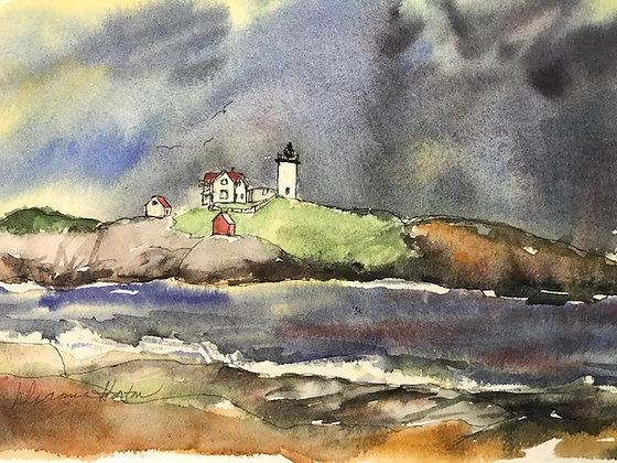 Bubble Light, York Print Maine by Artisan Dianne Horton