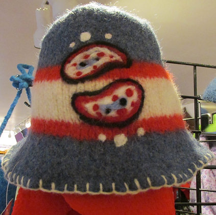 I Love the Sea Handmade Felted Wool Hat by Artisan May Bouchard