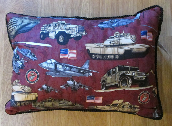 We Salute Our Marines by Artisan Pillow World