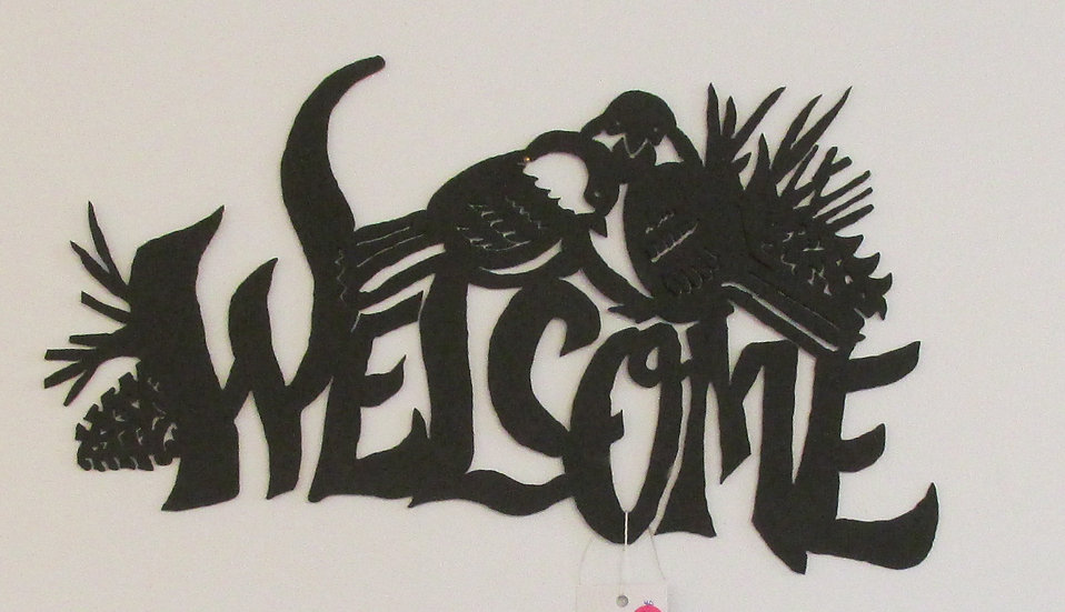 Welcome Hand Saw Wall Hanging