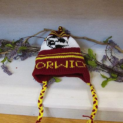 Norwich Soccer Handknit Hat by Artisan Keepsake NogginKnits
