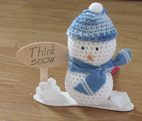 Hand Crochet Snowman Ornament