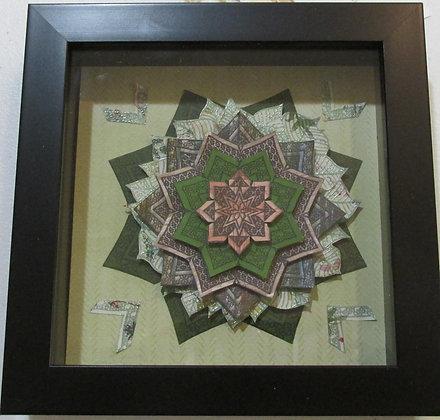Medallion Frame made by Marilyn Parker