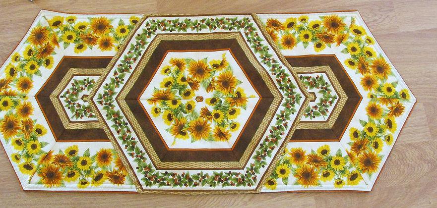 Sunflower Reversible Table Runner by Artisan May Bouchard