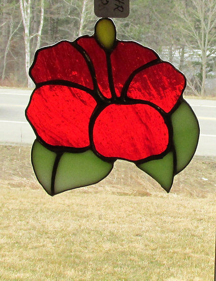 Hibiscus Stained Glass