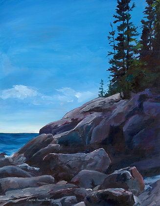 Cliffs at Sand Beach by Heather Roselle Barter