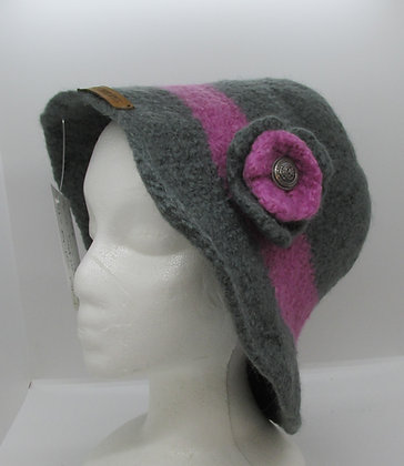 A Touch of Class Handmade Felted Wool Hat by Artisan May Bouchard