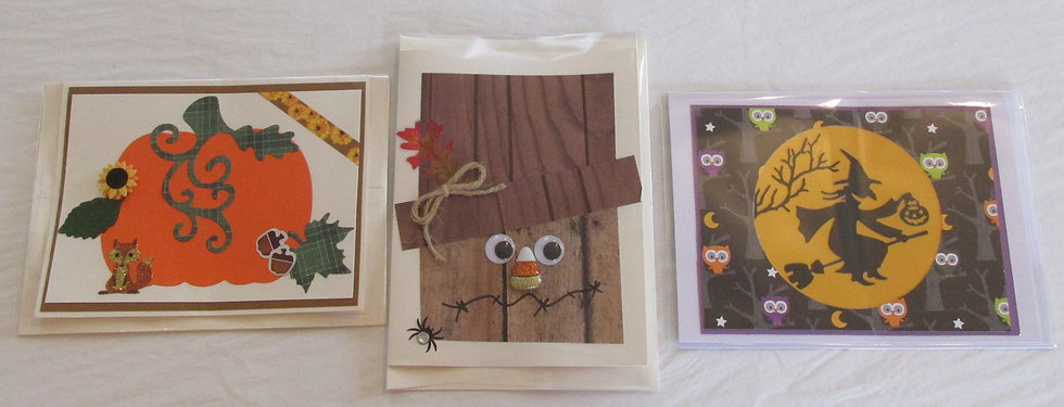 Fall Scene Hand Made Cards by Artisan Marilyn Parker