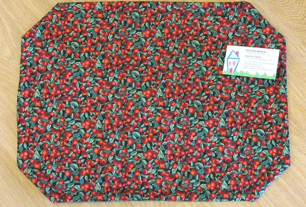 Handsewn Cranberries Placemat by Artisan Pillow World