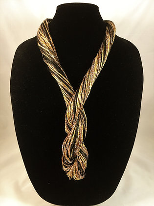 Golden Globe Chic Necklace by Artisan Jane Arey