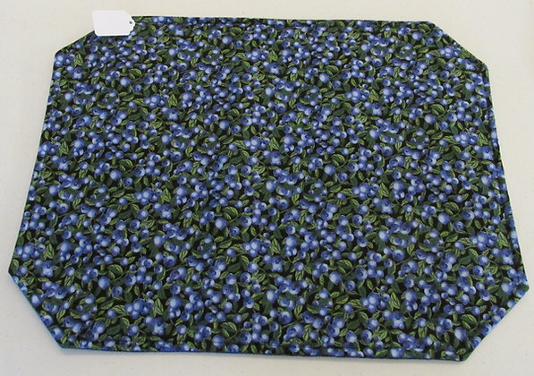 Blueberry Placemats by Artisan Pillow World